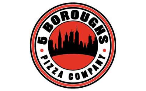 Buy 5 Boroughs Pizza & Subs Gift Cards