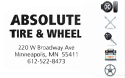 Buy Absolute Tire & Wheel Gift Cards